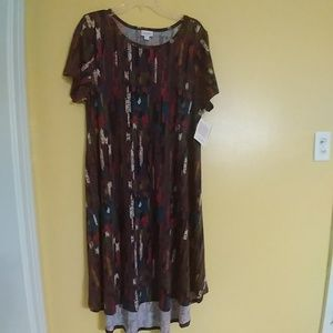 NWT Fall LuLaRoe CARLY HI-Low Dress XL